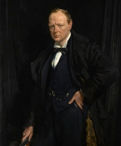 A 1916 portrait of Churchill.