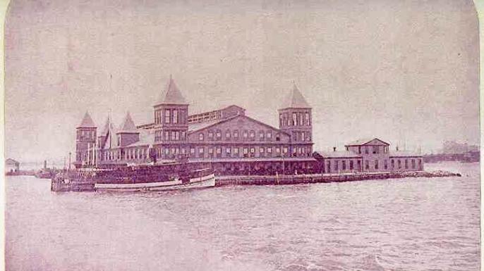 Ellis Island's first building.