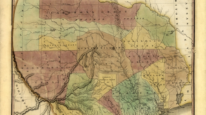 Texas, 1837, Texas Prestatehood Map. (Credit: Historic Map Works LLC/Getty Images)