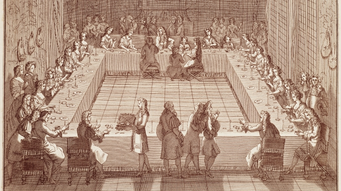 Painting depicting the Royal Lottery. (Credit: De Agostini / M. Seemuller)