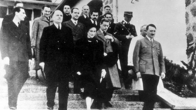Edward and Wallis meeting Hitler, 1937. (Credit: ullstein bild/Getty Images)