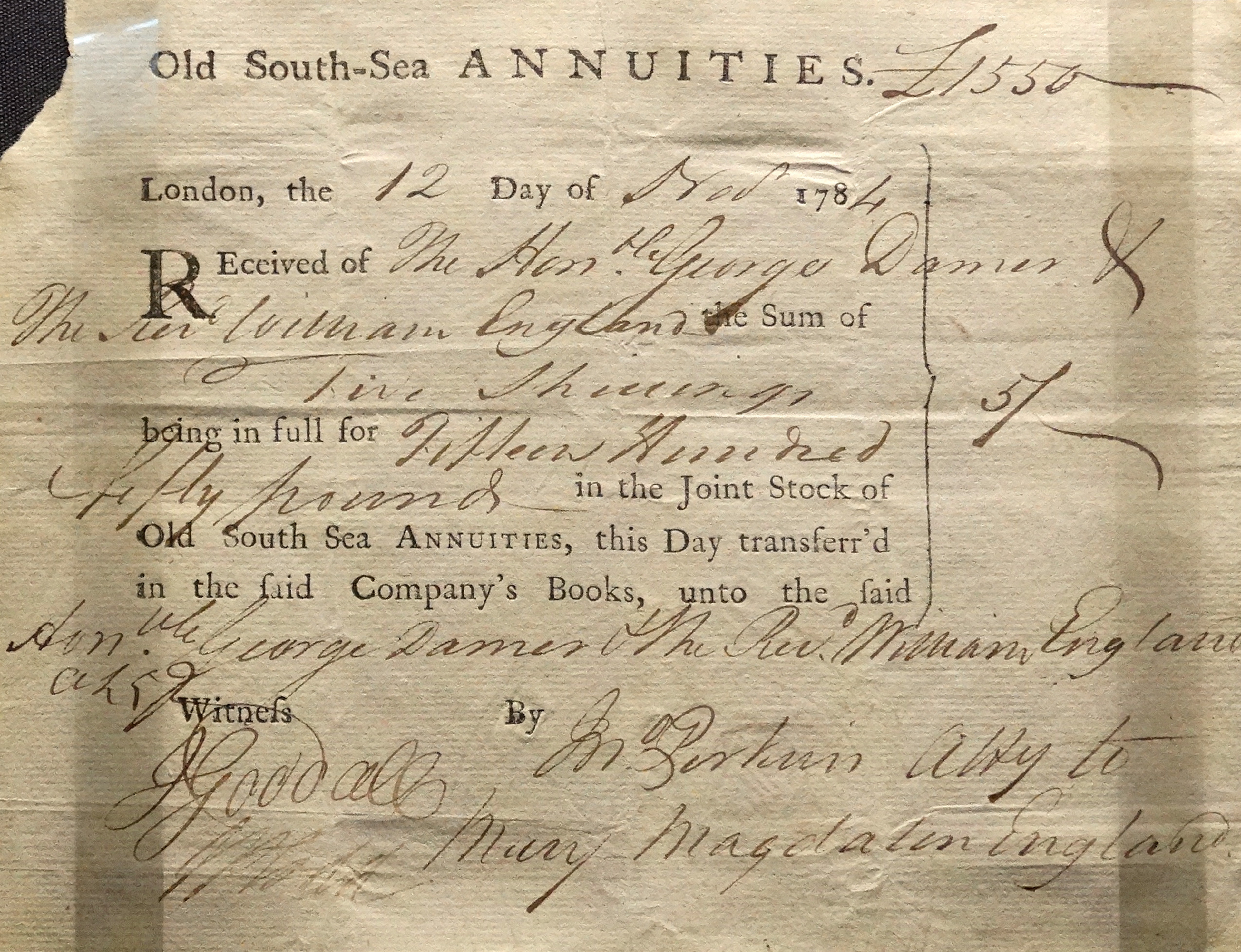 6 longstanding debts from history history lists south sea annuities share certificate london 1784 credit universal history archive 1betcityfo Image collections