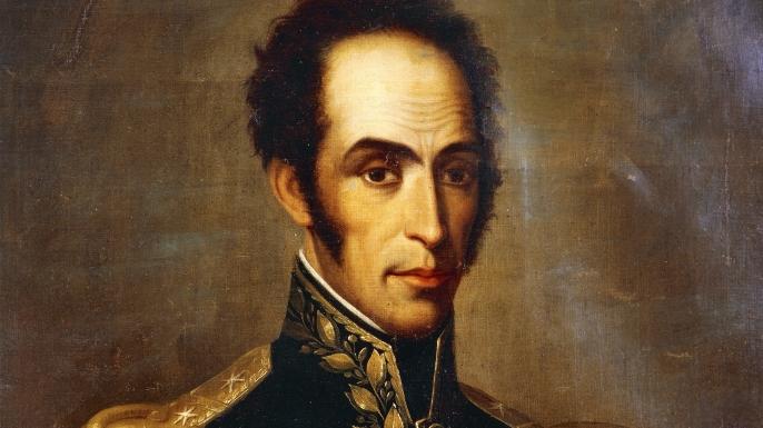Portrait of Simón Bolívar.