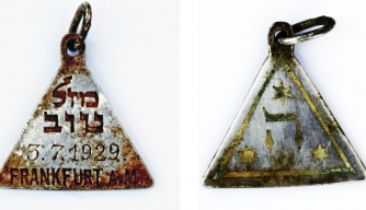 The recently-discovered pendant, believed to have belonged to German Jewish girl Karoline Cohn.