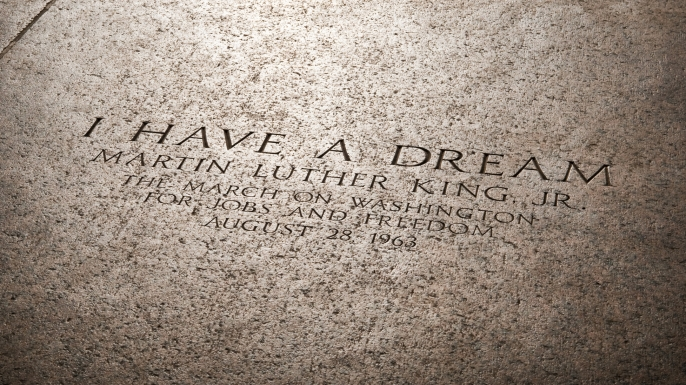 "Inscription marking the spot where Martin Luther King, Jr delivered his ""I Have a Dream Speech."" (Credit: jcarillet/iStockphoto.com)"