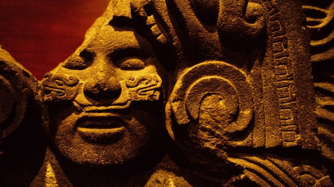 Aztec sculpture of the Goddess Cihuacoatl. (Credit: DeAgostini/Getty Images)