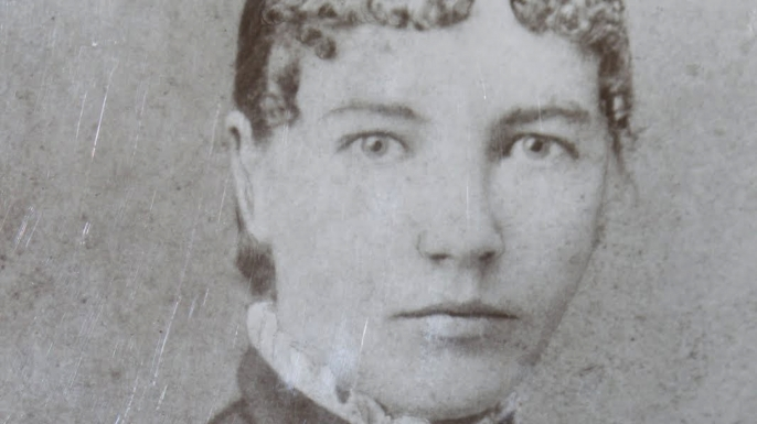 Laura Ingalls Wilder as a schoolteacher, c. 1887. (
