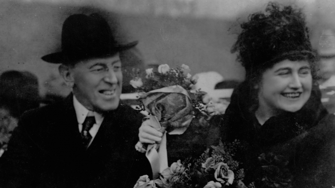 Woodrow Wilson and Edith Wilson.