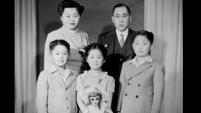 George Takei (right) with his parents, Fumiko Emily and Takekuma, and his younger siblings, Henry and Nancy. (Credit: George Takei)