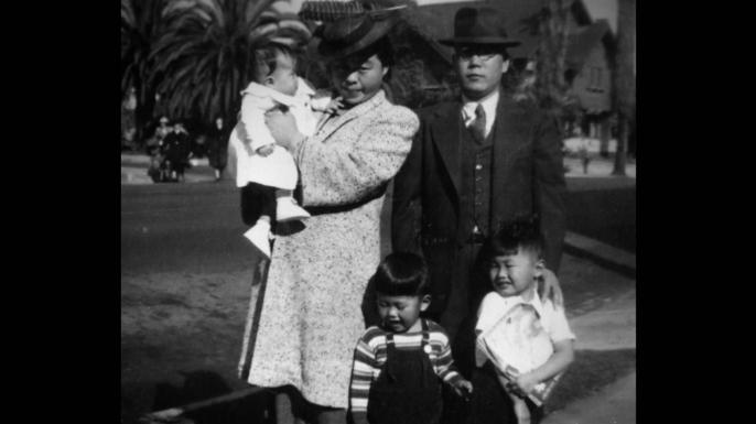 The Takei family, c. 1941. (Credit: George Takei)