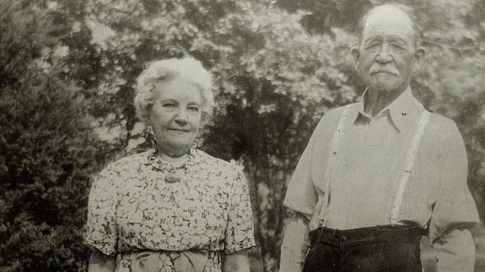 Laura Ingalls Wilder and husband Almanzo Wilder.
