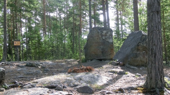 The memorial stone of the Torsåker witch trials from 1675. (Credit: Y-näsmannen)