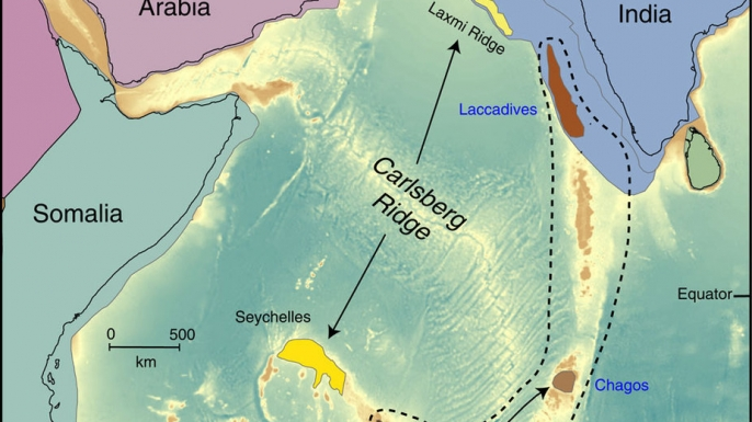 Location of possible continental fragments in the Indian Ocean. (Credit: Nature Communications)