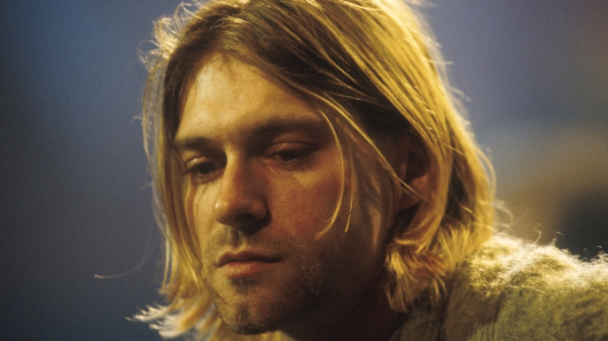 Kurt Cobain of Nirvana during the taping of MTV Unplugged at Sony Studios in New York City, November 18, 1993. (
