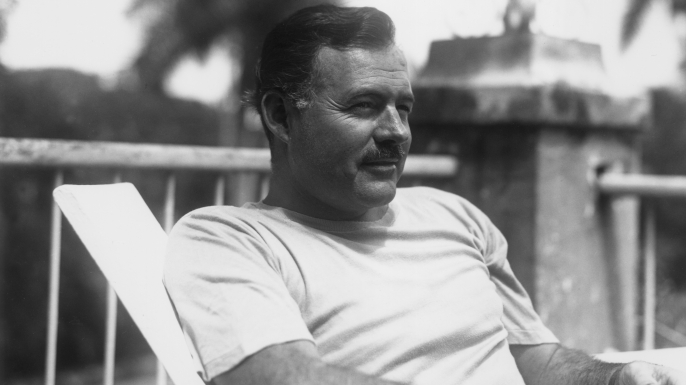 Ernest Hemingway in Cuba, July 1940. (Credit: Lloyd Arnold/Hulton Archive/Getty Images)
