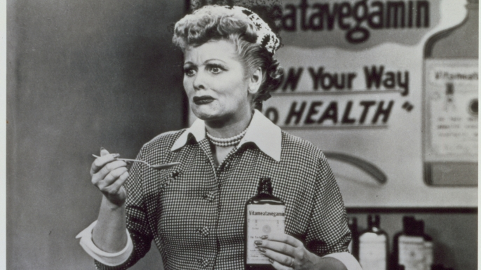 Still from the 1950s CBS television sitcom 'I Love Lucy.' (Credit: CBS Photo Archive/Getty Images)