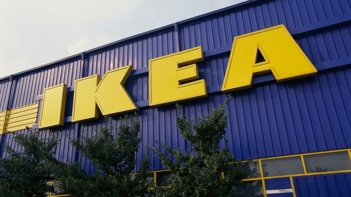 Ikea Store Sign (Photo by James Leynse/Corbis via Getty Images)