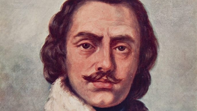 Portrait of Casimir Pulaski. (Credit: Charles Phelps Cushing/ClassicStock/Getty Images)