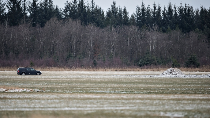Shows a place where the wreck of a World War II aircraft was found by a 14-year-old Daniel Rom Kristensen and his father Klaus Kristensen, near Birkelse, in Northern Jutland. (Credit: HENNING BAGGER/AFP/Getty Images)