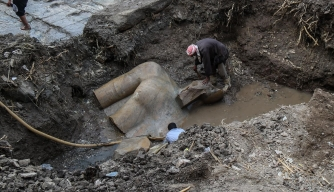 Stunning Statue Discovered in Egyptian Mud Pit May Depict Ramses II