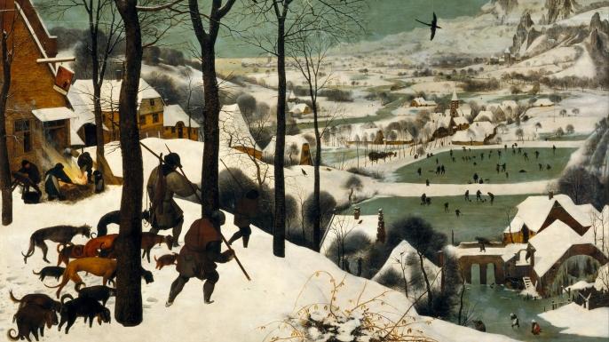 """Pieter Bruegel the Elder, """"Hunters in the Snow."""" (Credit: Public Domain)"""