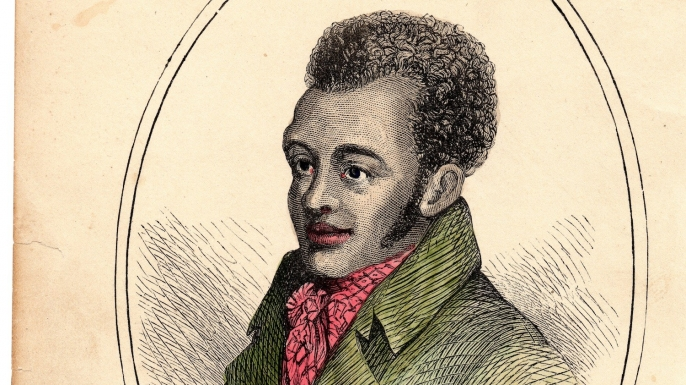 A portrait of Bill Richmond from 1812