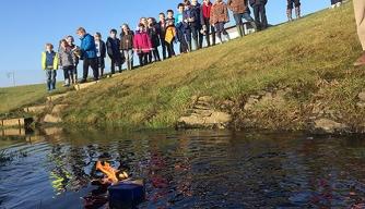 Scottish Schoolchildren Give Goldfish a Grand Viking Funeral