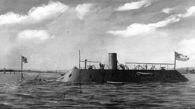 CSS Virginia. (Credit: U.S. Navy Art Collection)
