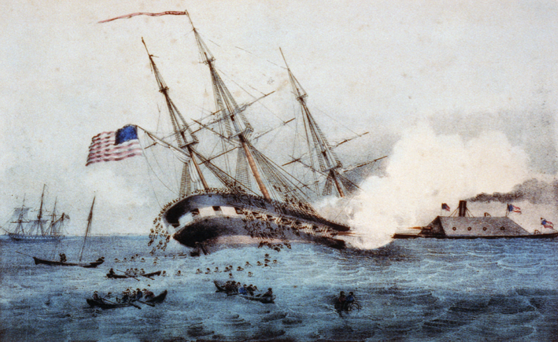 the battle of hampton roads changed the course of naval history Portsmouth history year event 1608  attacked and defeated the federal squadron in hampton roads,  this two-day battle by a portsmouth ship changed the course.