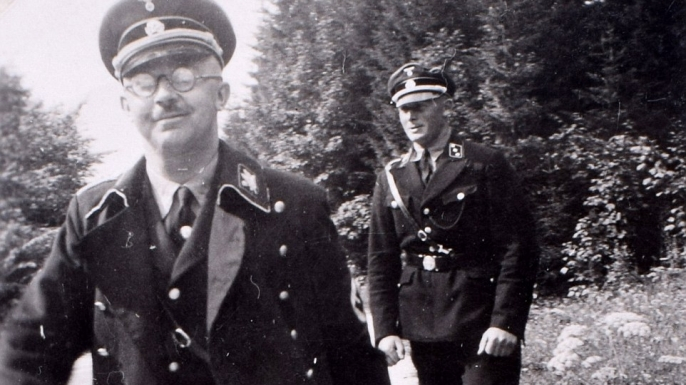 Heinrich Himmler (left), chief of the SS, visiting the Berghof. (Credit: C&T Auctions)