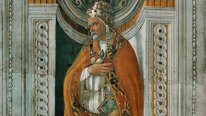 ixtus II portrait from the Sistine Chapel.
