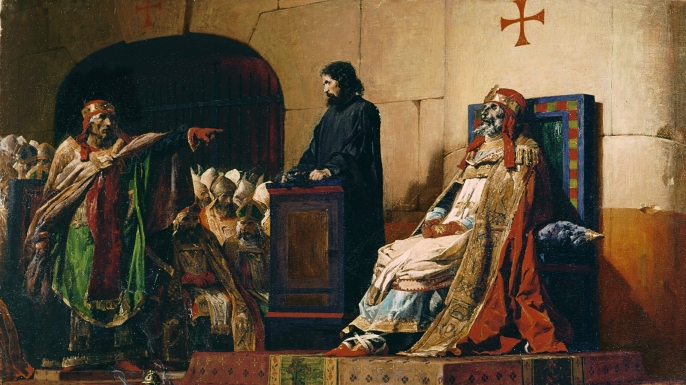 """Painting depicting the """"Cadaver Synod."""""""