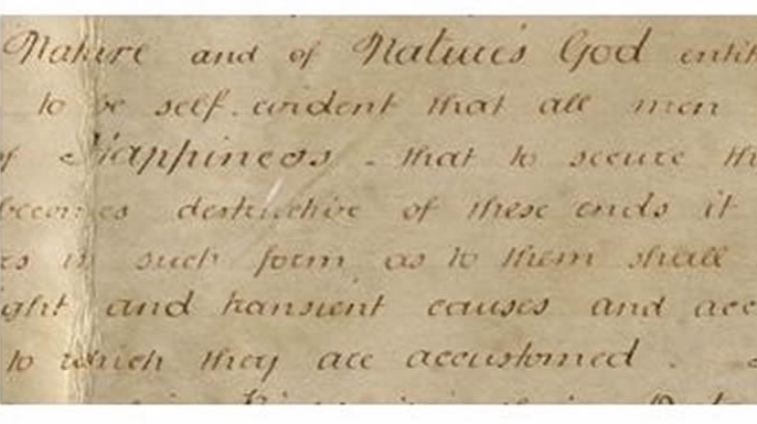 Detail of pursuit of happiness on the Sussex Declaration. (Credit: West Sussex Record Office Add Mss 8981)