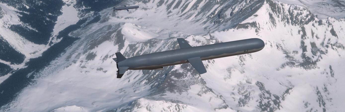 Two U.S. Navy BGM-109 Tomahawk Cruise Missiles