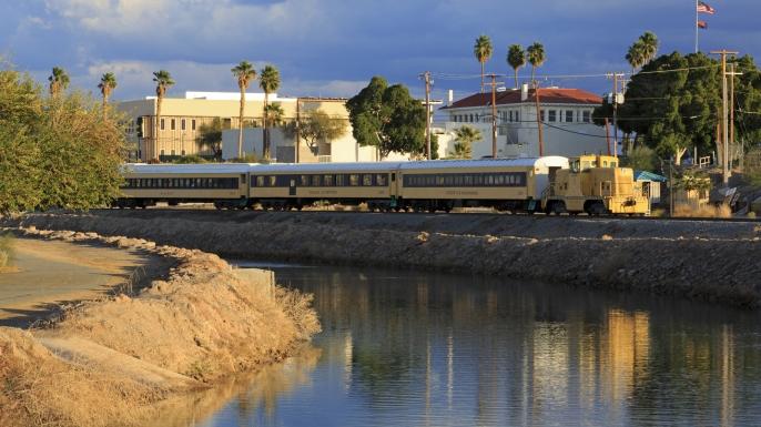 Yuma Main Canal & Riverside Park,Yuma,Arizona,USA
