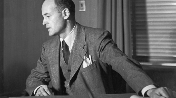 George Kennan in his office, circa 1948. (Credit: Eric Schwab/Hulton Archive/Getty Images)