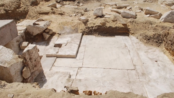 Pyramid remains— the inner structure survives today. (Credit: Egyptian Ministry of Antiquities)