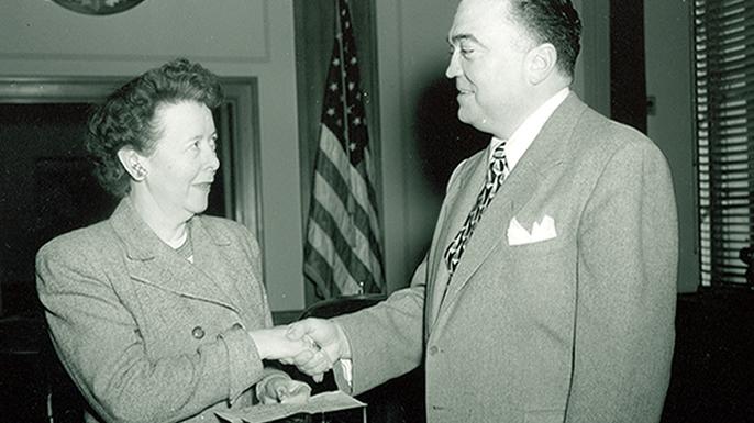 Helen Gandy and J. Edgar Hoover.