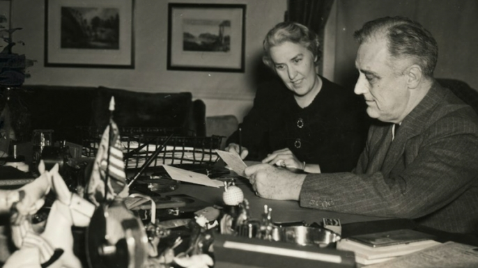 Missy LeHand with Franklin Delano Roosevelt.