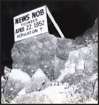 "The ""News Nob"" at the test site."