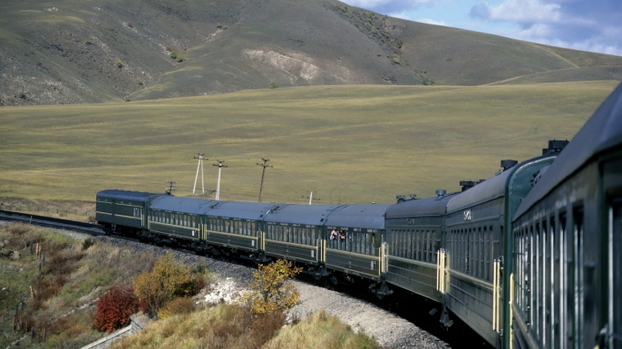 Trans-siberian Railway. (Credit: Wolfgang Kaehler/LightRocket/Getty Images)