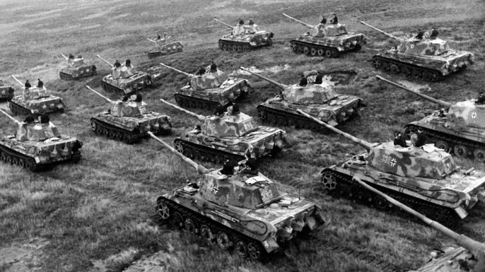 Germany Panzer Tiger II tanks in 1944. (Credit: ullstein bild/ullstein bild via Getty Images)