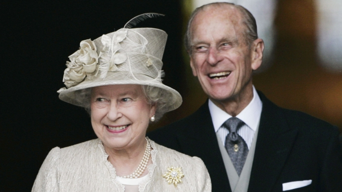 Queen Elizabeth II and Prince Philip arrive at St Paul's Cathedral for a service in honor of the Queen's 80th birthday.