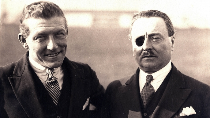 French pilots Charles Nungesser and Francois Coli, c. 1927  (Credit: Apic/Getty Images)