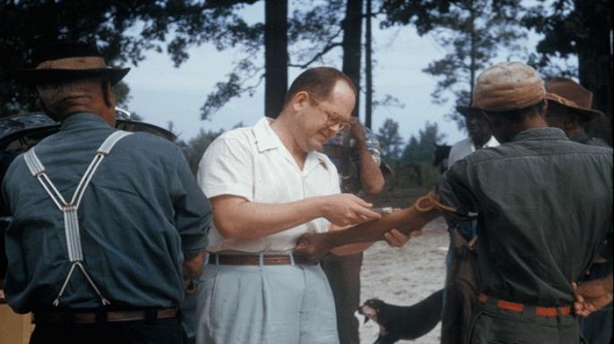 Participants in the Tuskegee Syphilis Study. (Credit: National Archives)