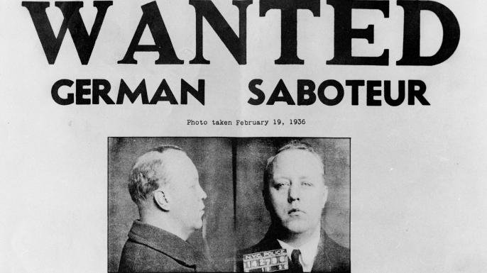 "FBI ""Wanted"" poster for Nazi saboteur Walter Kappe."