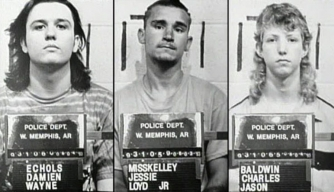 """Mugs of the """"West Memphis Three."""" (Credit: West Memphis Police Department)"""