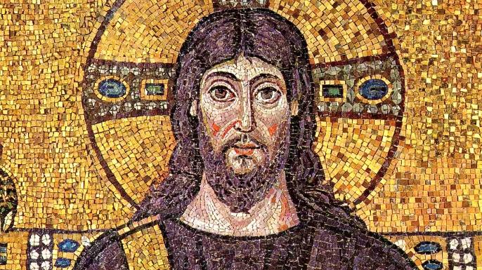 Mosaic of Jesus Christ, Basilica of Sant'Apollinare Nuovo in Ravenna,