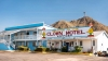 The front entrance of the Clown Motel in Tonopah, Nevada. (Credit: Ken Howard/Alamy Stock Photo)