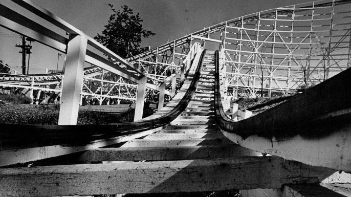 amusement park, roller coasters